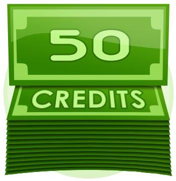 50 Credit Tip