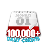 100,000 Credits in a Day