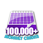 100,000 Credits in a Month