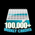 100,000 Credits in a Week