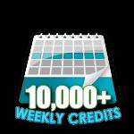 10,000 Credits in a Week