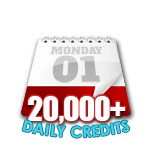 20,000 Credits in a Day