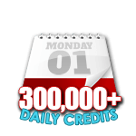300,000 Credits in a Day