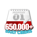 650,000 Credits in a Day