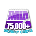 75,000 Credits in a Month