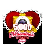 Valentine's 5,000 Credits