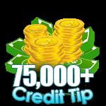 75,000 - 99,999 Credit Tip