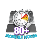 80 Hours Online in a Month