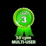 Multi-User 50cpm - Level 3