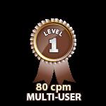 Multi-User 80cpm - Level 1