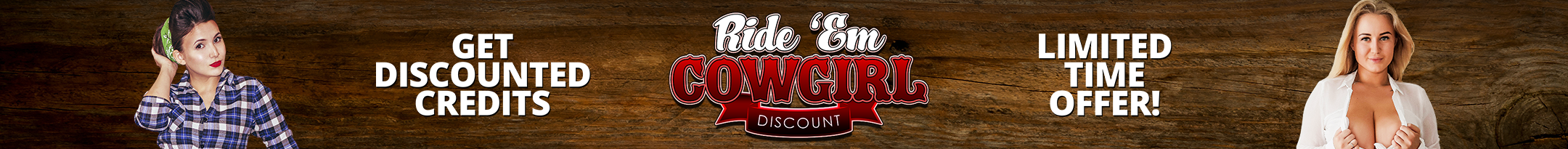 Ride Em Cowgirl Discount Promo